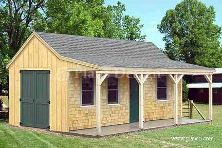 12' x 20' Building Cottage Shed With Porch Plans, Material