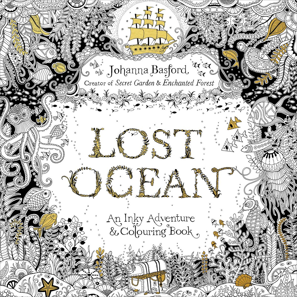 Johanna Basford Revealed The Cover Of Her New Coloring Book Today SUPER Excited To Share With You All For My Colouring Lost Ocean