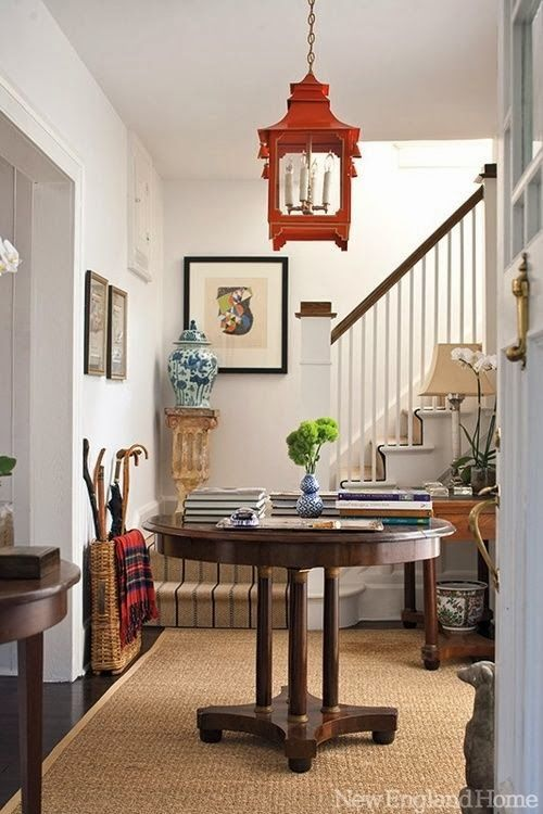 Chinoiserie Chic.  Red Chinese lantern pendant chandelier.  May not go in my house, but I love it.