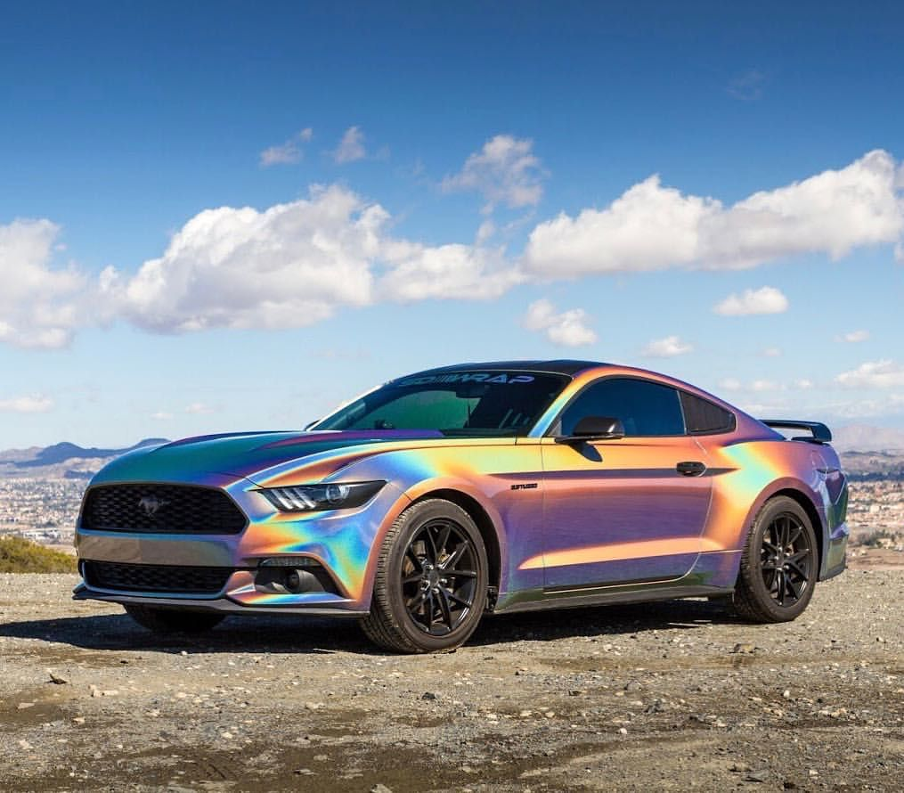 Sd Wrap Team Member Wesleyromero Killed It On His Psychedelic Mustang With Nicheroadwheels And A Ton Of Other Mods Who Would Rock This