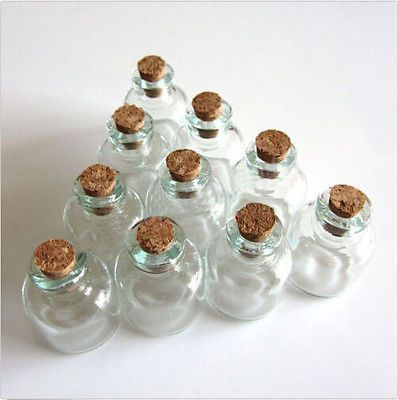 eeeae099cf80 Details about Lots 10 Pcs 22x28mm Empty Tiny Small Clear Cork ...