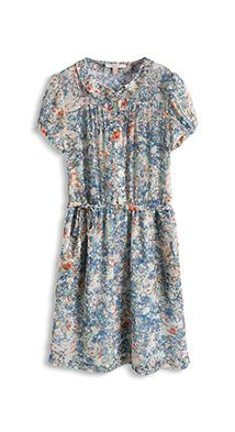 Transparentes Chiffon-Blumen-Kleid