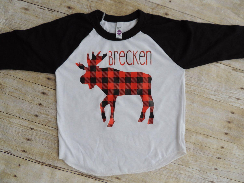 Flannel shirt for baby boy  Christmas shirt buffalo plaid toddler boy baby boy raglan