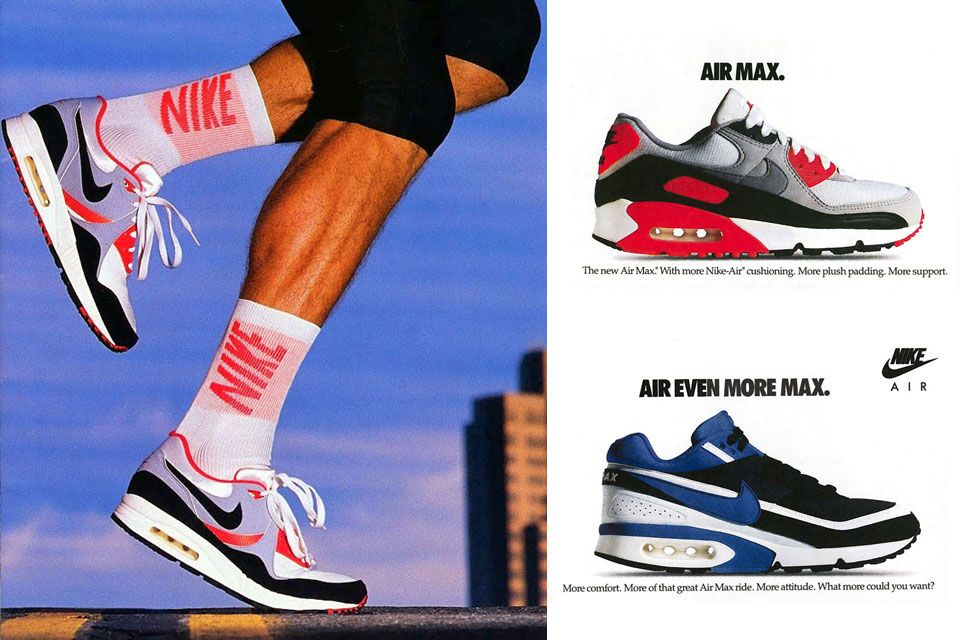 be536d37b59 The Heritage Timeline of Sneaker Culture via Classic Kicks. - size  blog.  1989 and 1990 Air Max selection Flyknit Racer