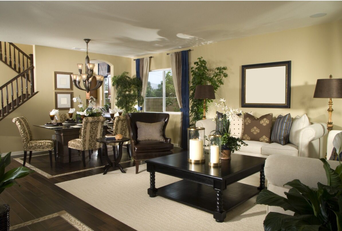 Nice table decorations   Living room dining room combo ...
