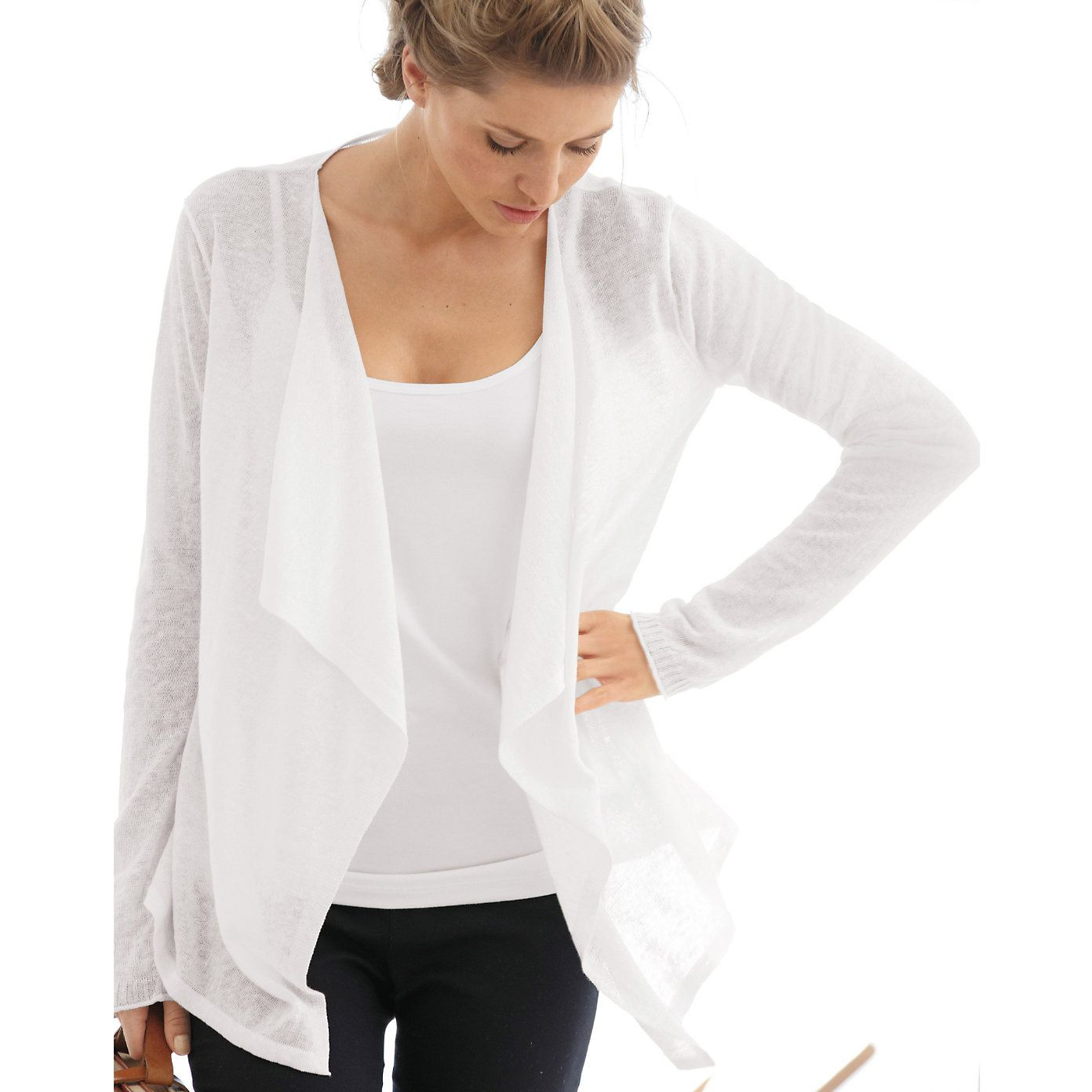 The White Company - Waterfall Linen Cardigan | Clothes I Love ...