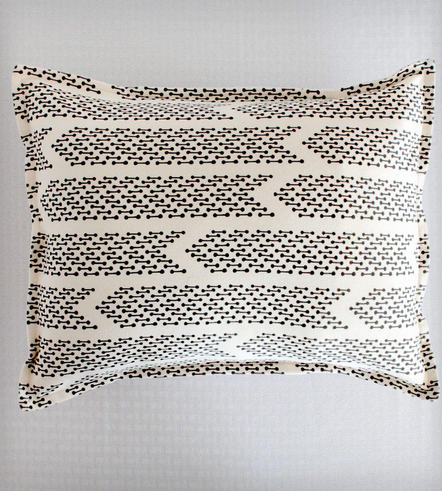 Barbell Chevron Pillow Cover
