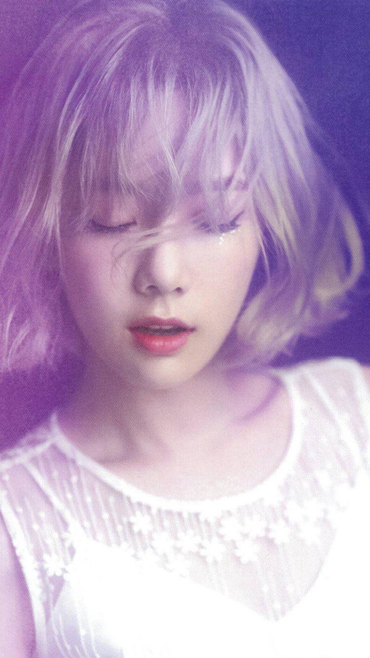 Taeyeon Kpop Snsd Purple Pink Girl Wallpaper Hd Iphone Tae Yeon