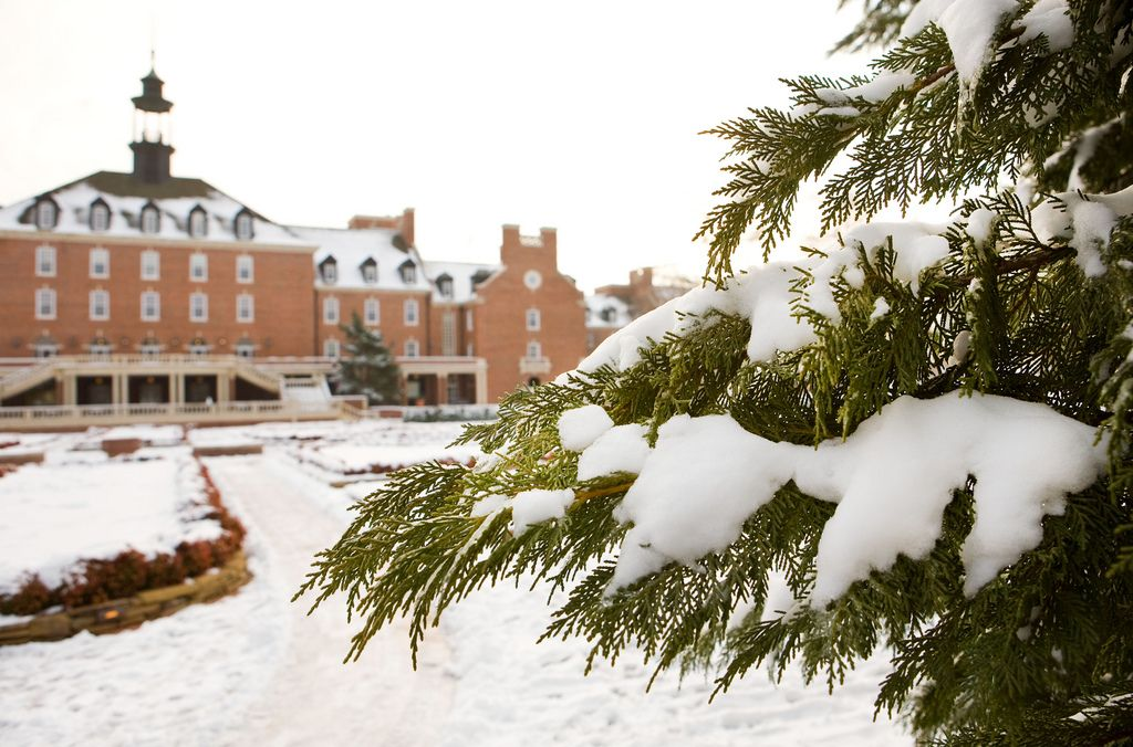Oklahoma State University Winter Scene Winter scenes