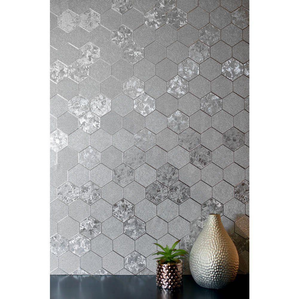 Arthouse Wallpaper Foil Silver