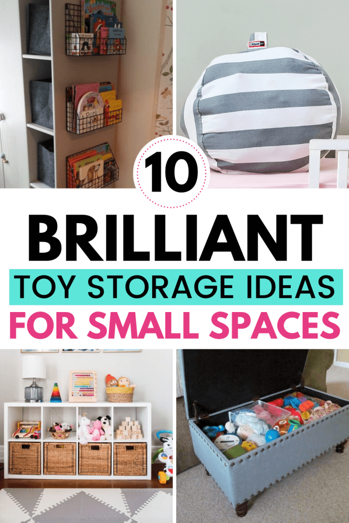 Toy Storage Ideas For Small Spaces Mommyhooding In 2020 Toy Storage Small Space Organization Small Spaces