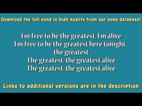 Sia ft  Kendrick Lamar - The Greatest (Guitar Karaoke