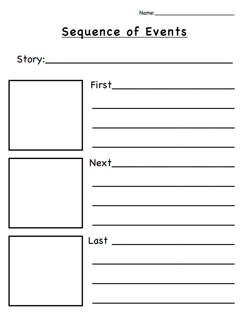 Sequence of Events.pdf | Classroom Ideas | Sequence of events, Story ...