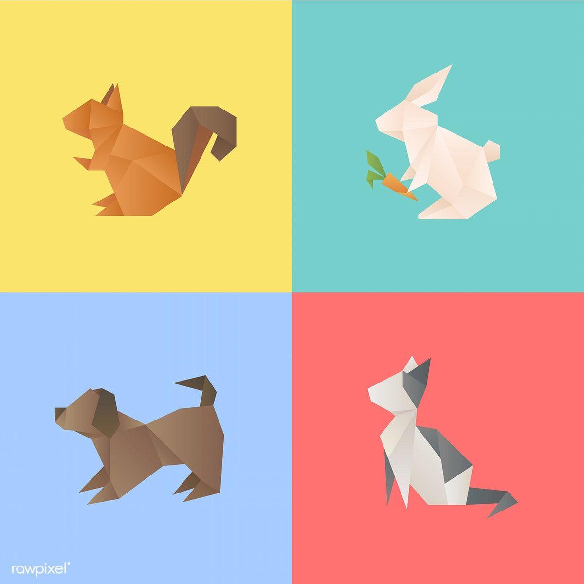 Animal Vector Free Image By Rawpixel Com Free Illustrations Geometric Animals Illustration