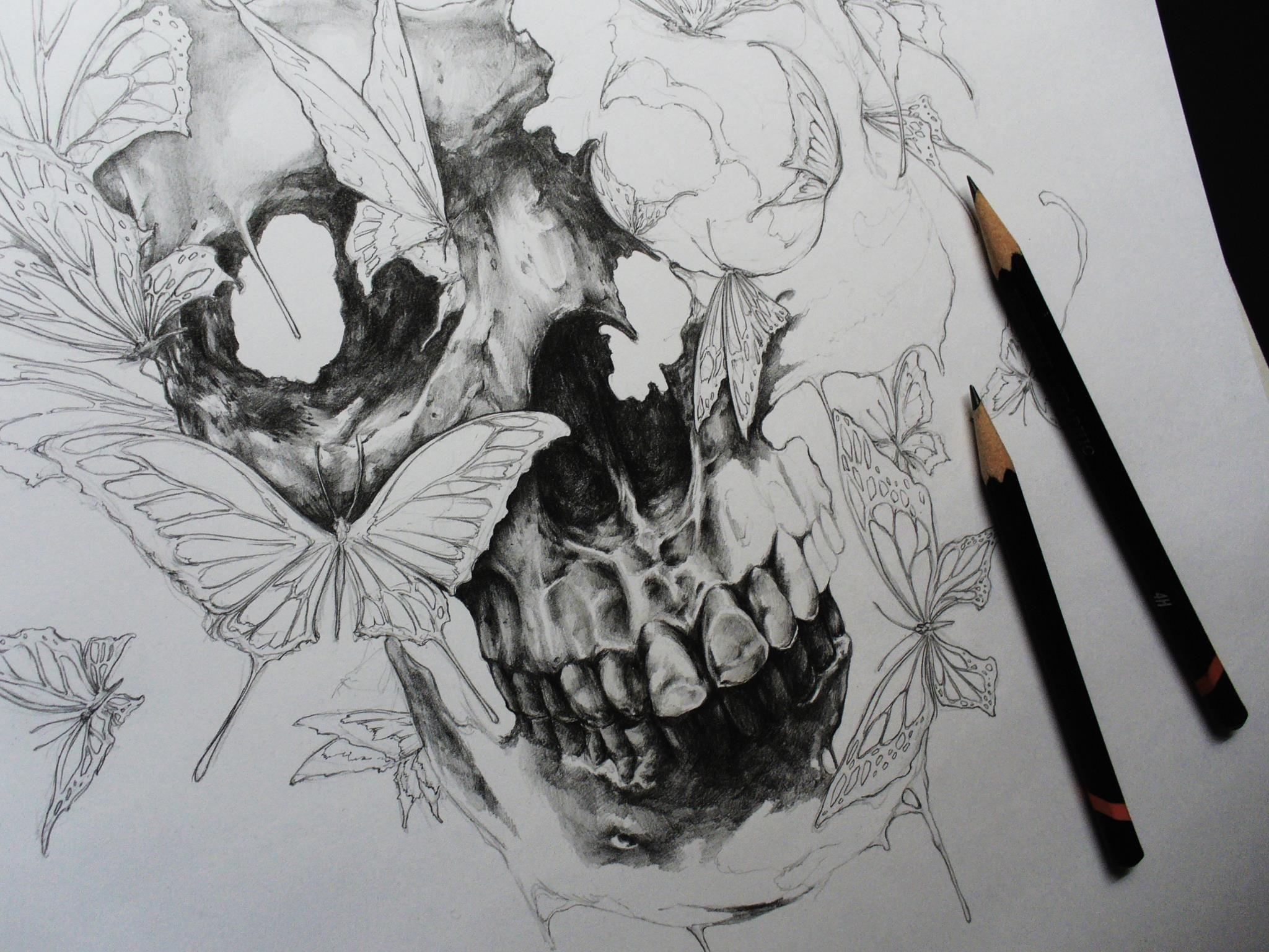 Tarin Yuangtrakul Work in Progress Art, Skulls and