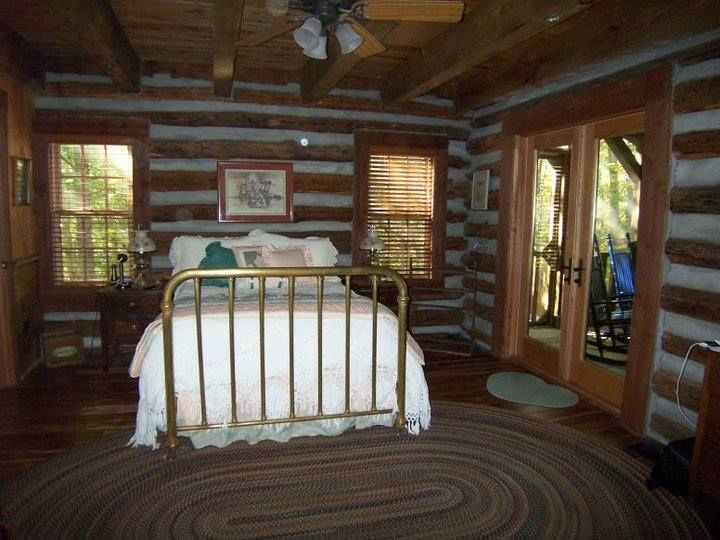 Master Bedroom with screened in porch.