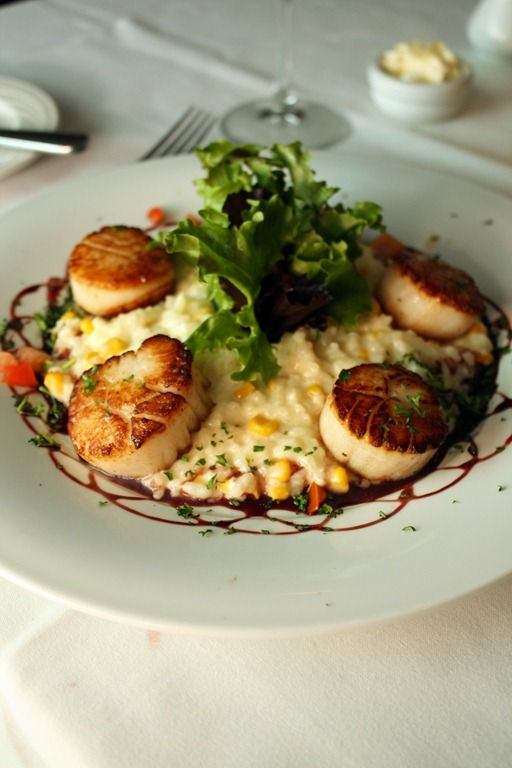 Myrtle beach trip day 1 wine bistro sweet corn and risotto brentwood restaurant wine bistro sweet corn risotto with scallops forumfinder Gallery