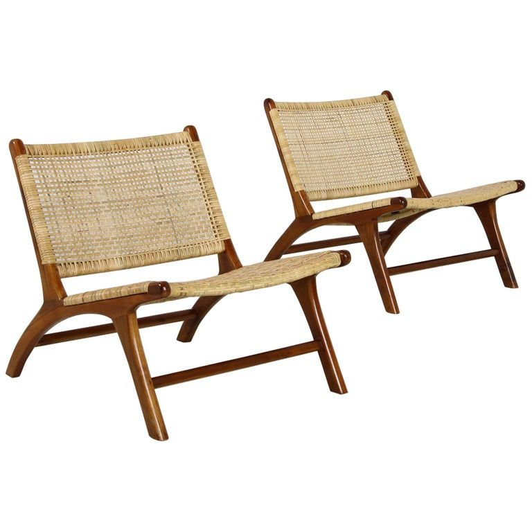 Astonishing Pair Of Sergio Rodrigues Lounge Chairs Solid Teak Short Links Chair Design For Home Short Linksinfo