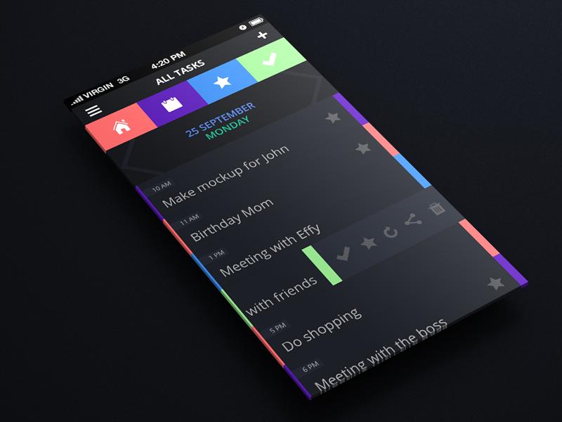 Daily tasks Android app design, Ios app design, App design