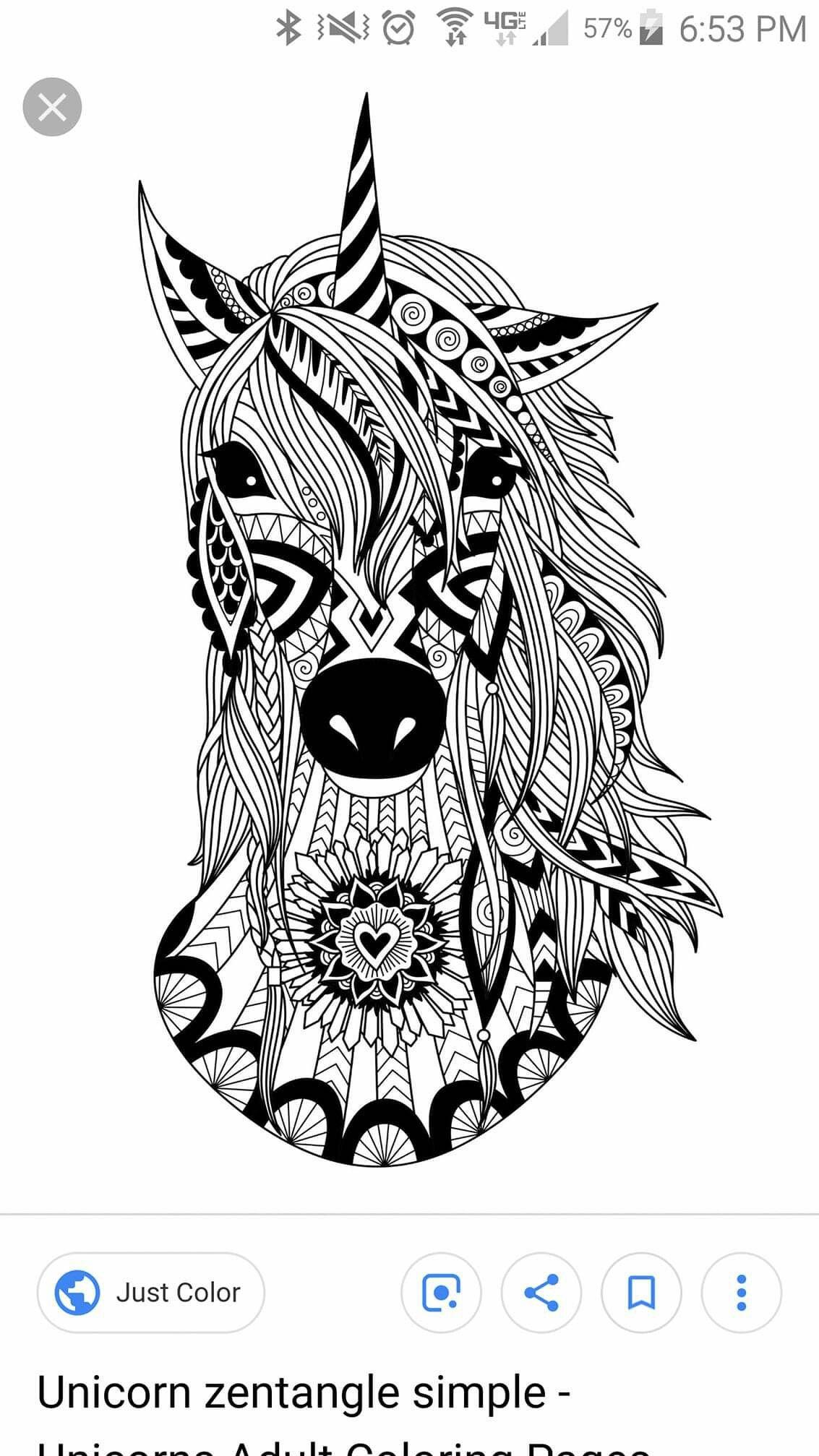 Pin by Kristi Cooper on Silhouette | Unicorn coloring ...