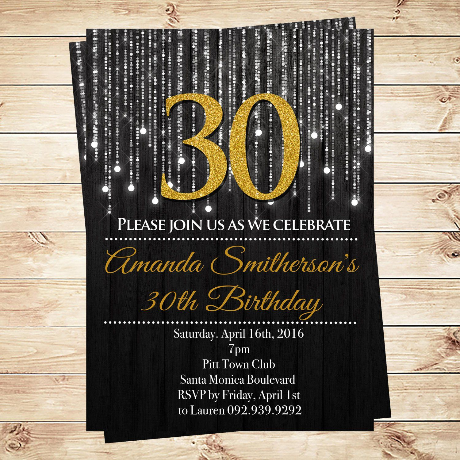 30th Birthday Invitations Free Download