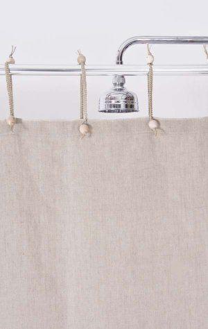 Hemp Shower Curtain Purely Natural 180 X 180 Fabric Shower