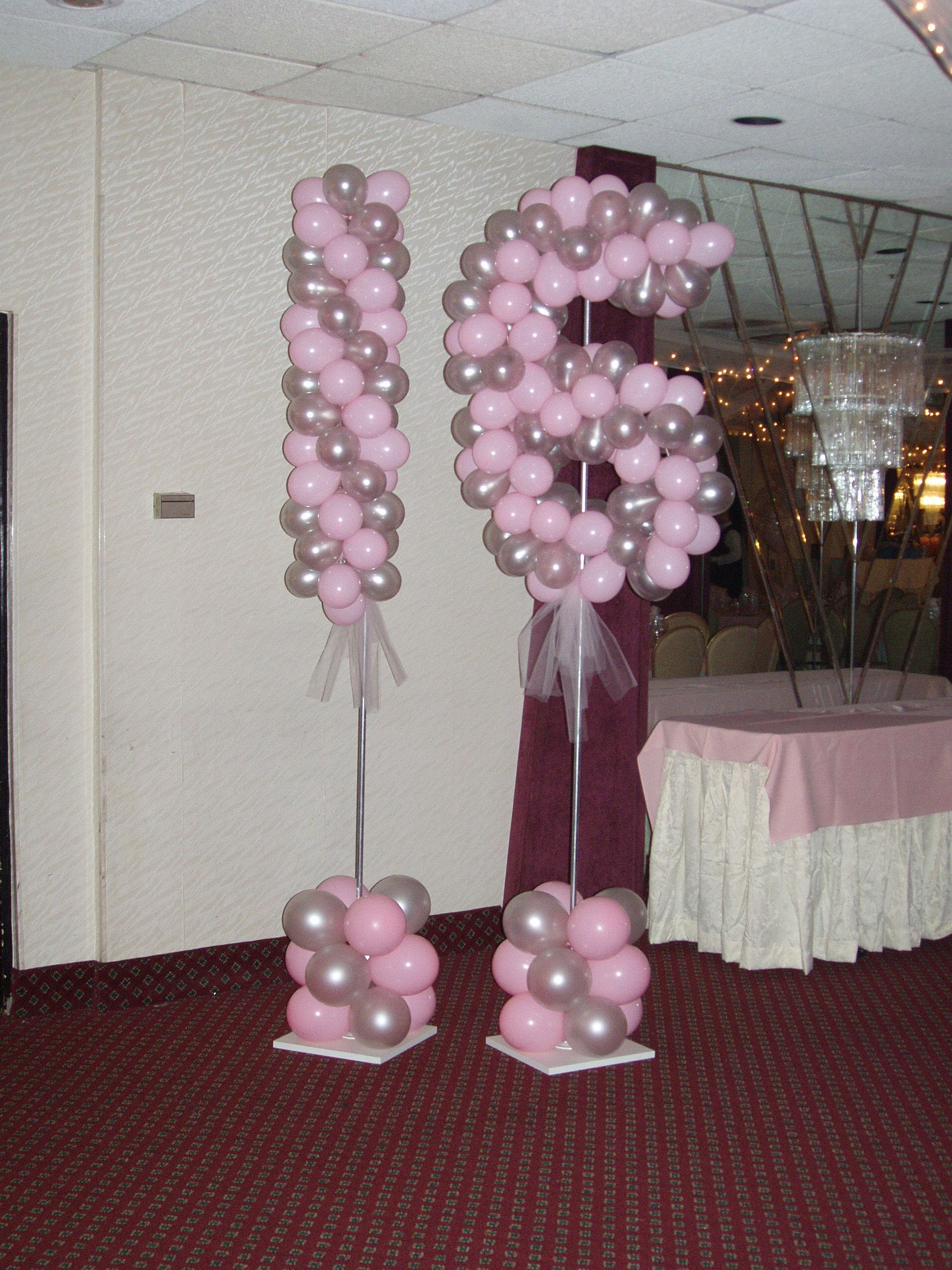 15 Balloons Sweet 16 Decorations 16th Birthday Balloon Crafts