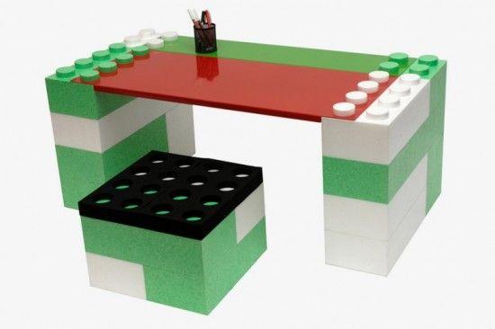 Lunatic Construction \u2013 Des meubles modulaires façon LEGO Lego desk