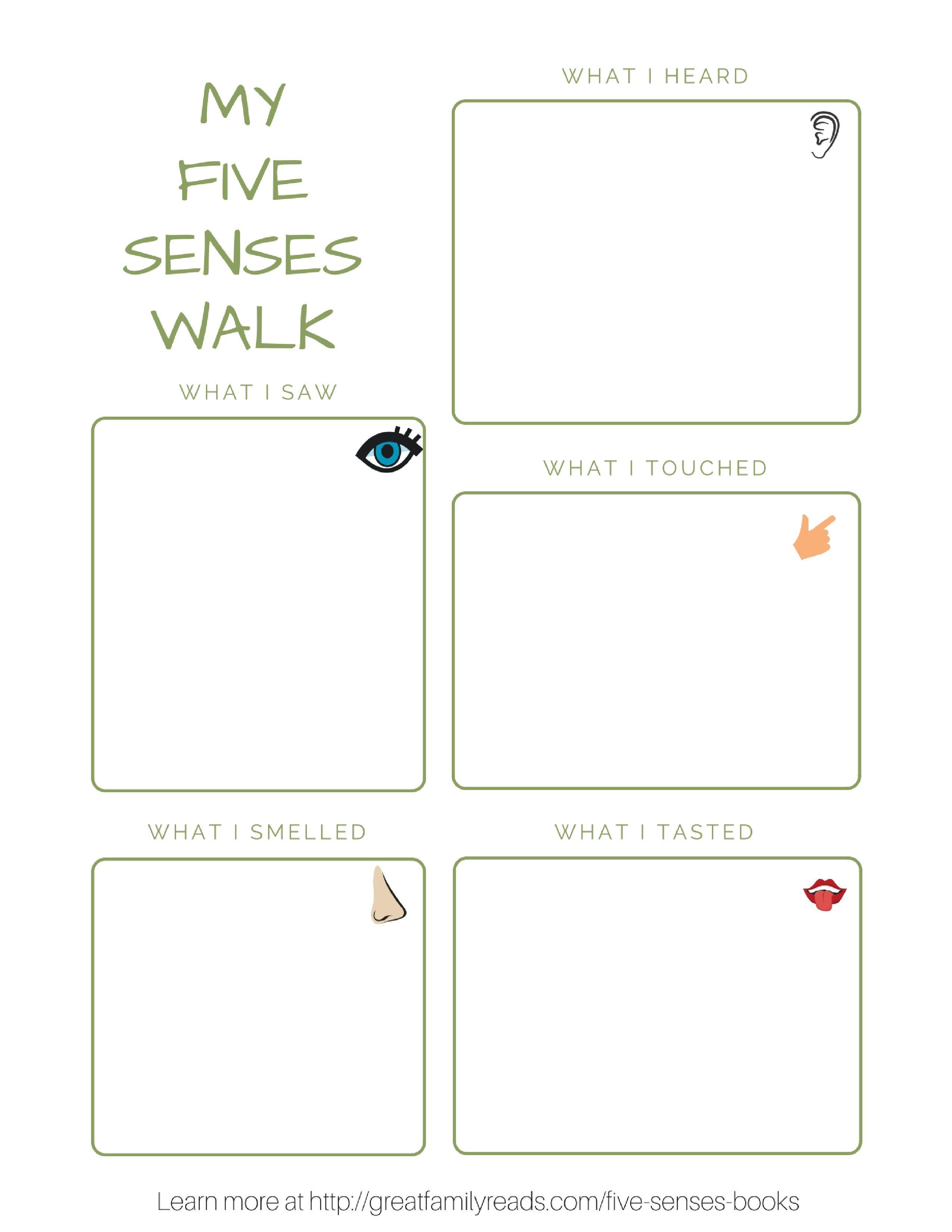 Explore The Five Senses On A Walk With Your Child Stemed Ece Preschool Kindergarten