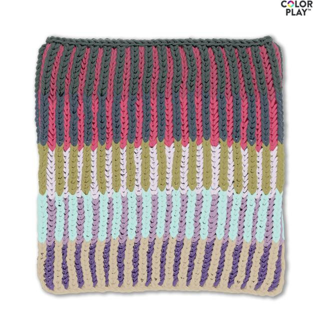 Caron x Pantone Brioche Knit Cowl | Knit cowl pattern free ...