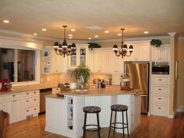 Kitchen Wonderful Small Kitchen Layout With White Furniture Set