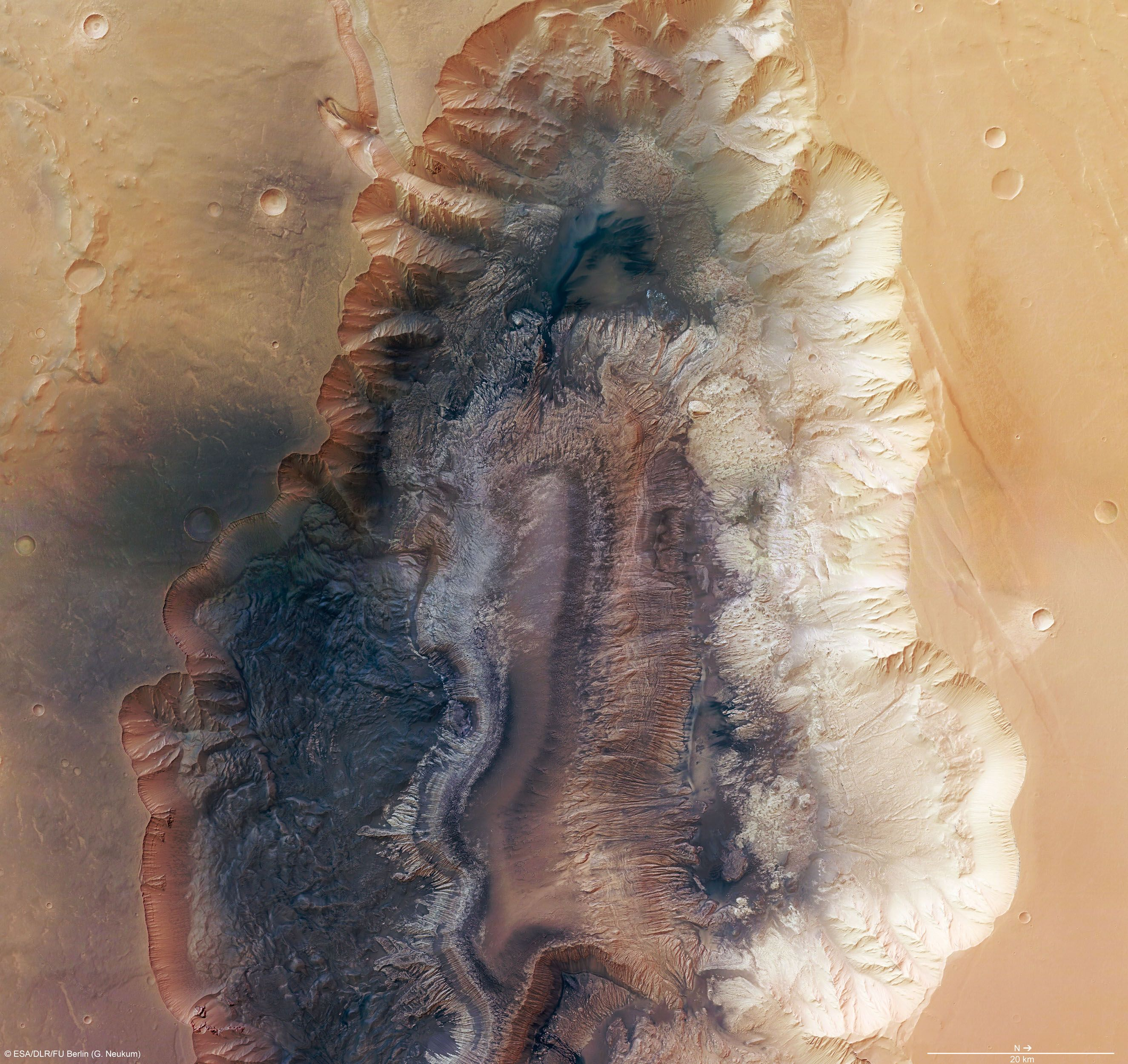 Ravine ,(01) (Hebes Chasma, Mars) - a dark vale, with hardly any light, full of pale, luminescent beings whose energy was deep and full but ultimately too delicate, a world of amber fire and pale moon