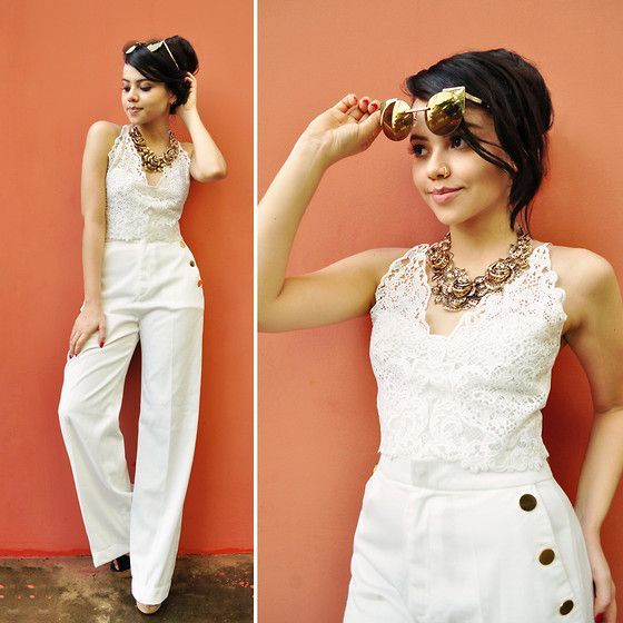 Clara Campelo - Amaro Pants - Gold & White