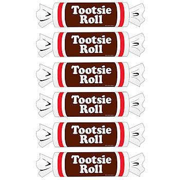 Our Tootsie Roll Cutouts Set Features Six Cutouts In The Shape And