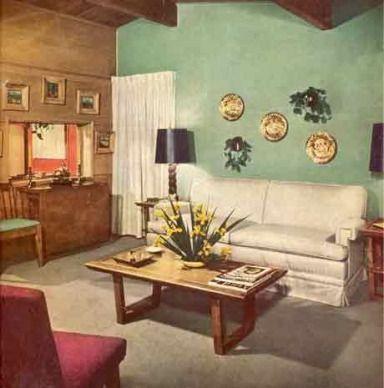 1940 Interior Homes Home Interiors Retro Home Decor Shabby Chic Living Room Home Decor