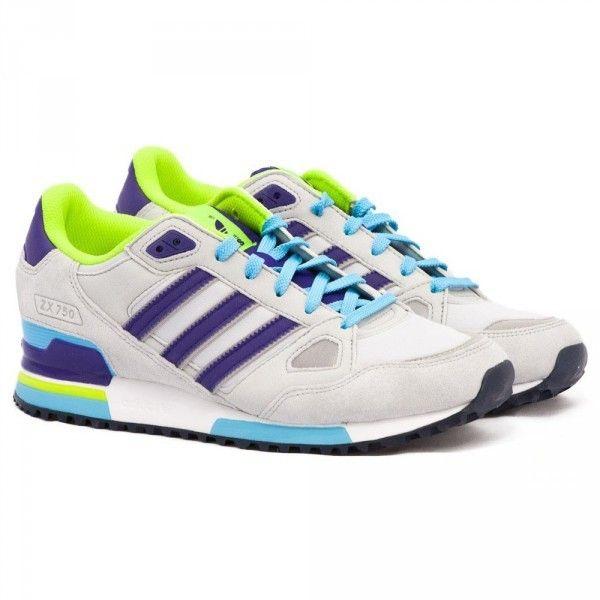 meet b38bf 58473 Zapatillas Adidas Originals ZX 750 Mujer Lobo Gris   Añil Púrpura   Verde  Lima   Azul CieloOv5Cib 1
