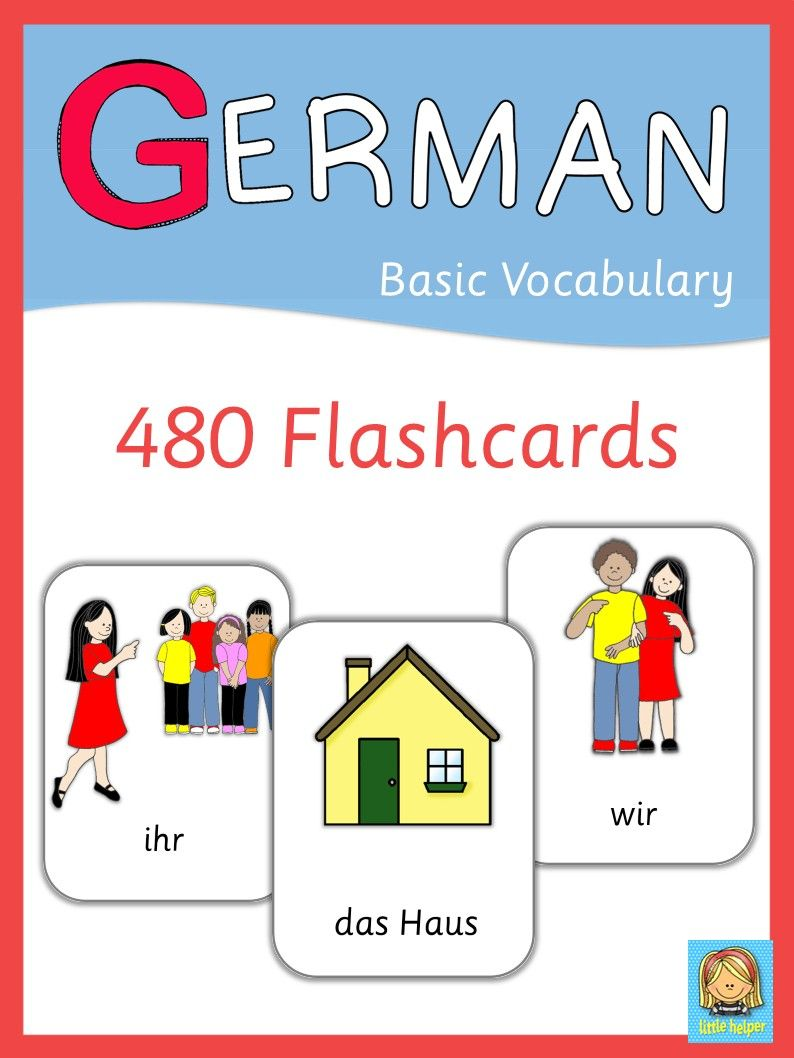 German Flash Cards - Basic Vocabulary |