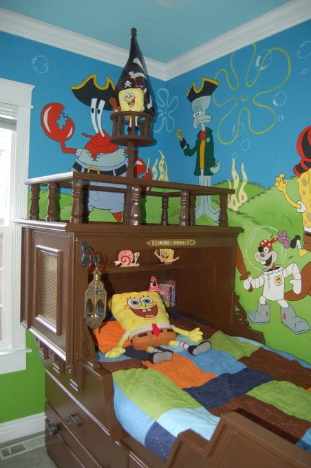 This Is The Absolute Coolest Spongebob Room Iv E Ever Seen Boys Decor