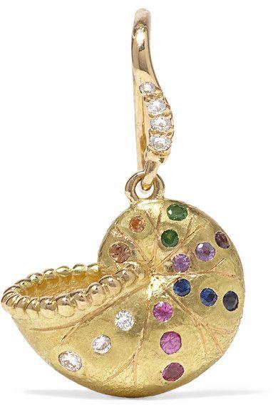 Aurelie Bidermann Nautilus Keeper 18 Karat Gold Multi Stone