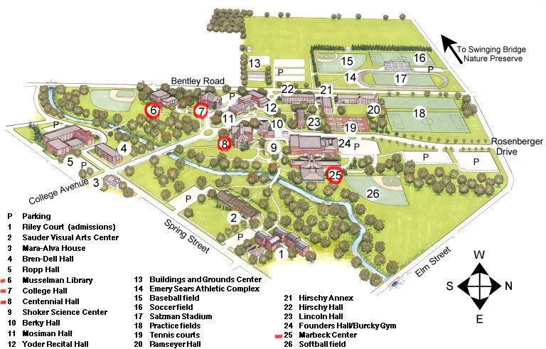 Campus Map Bluffton University Do It Soon