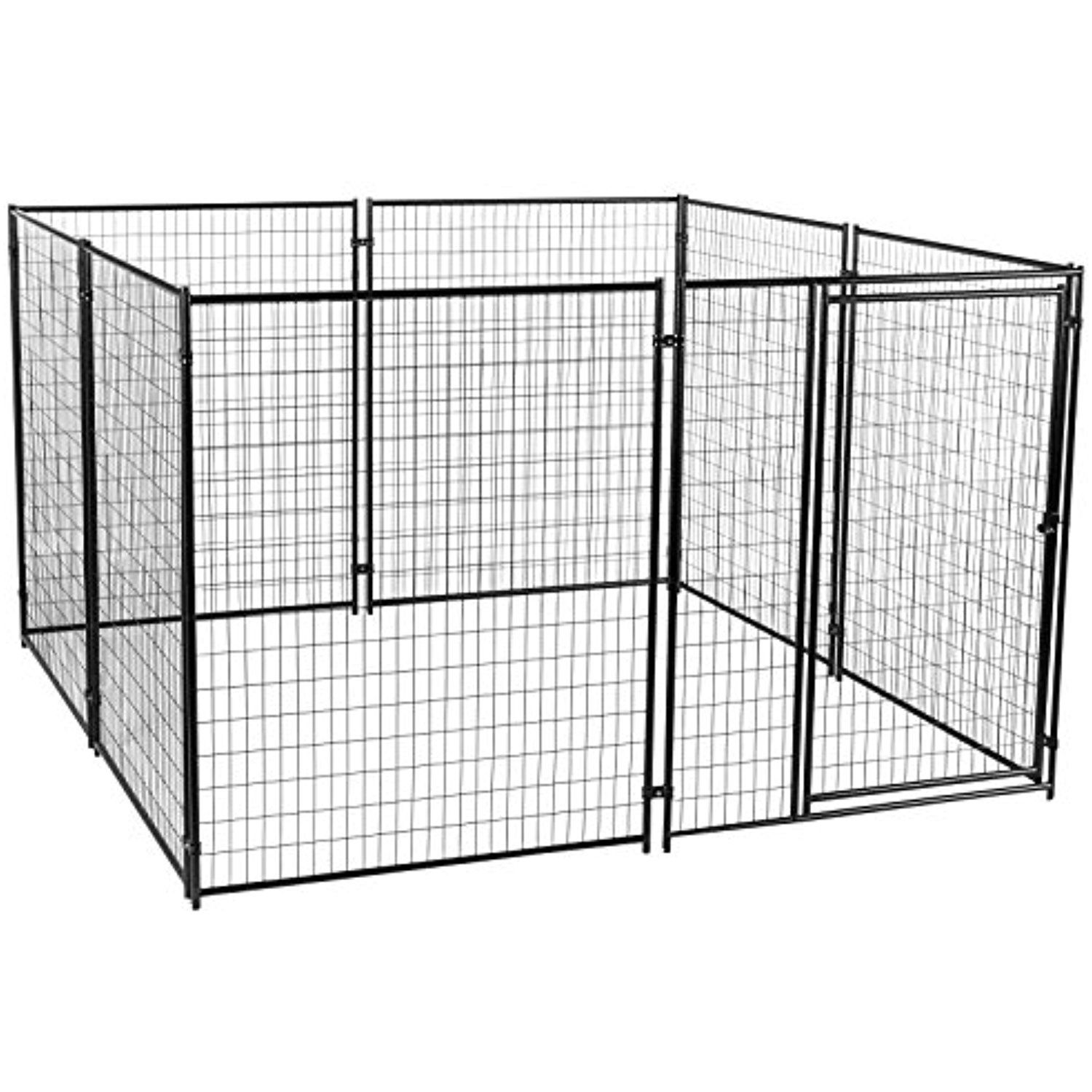 Dog Kennel - Lucky Dog Modular Box Kennel - This Welded Animal ...