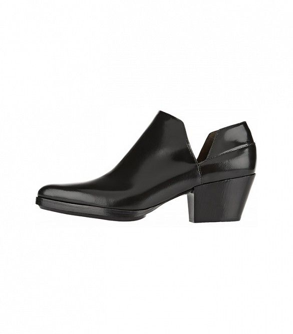 3.1 Phillip Lim Dolores Cutout Leather Ankle Boots in Black