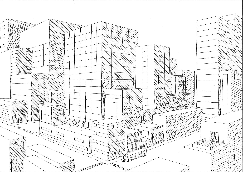 futuristische stad tekening google zoeken kunst pinterest perspektive fitness bungen. Black Bedroom Furniture Sets. Home Design Ideas