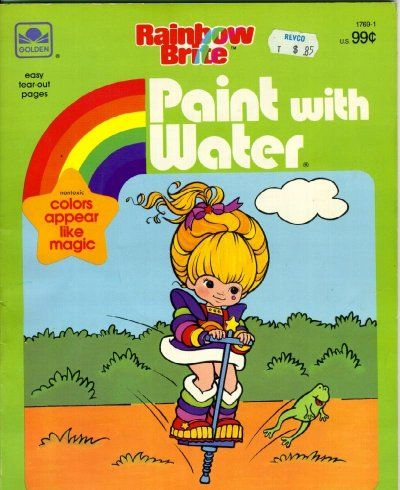 i loved paint with water books i had this exact book loved rainbow brite too - Paint With Water Coloring Books