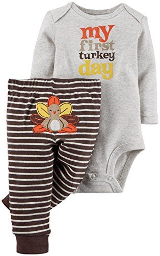 Amazon Com Carter S Baby Boys 2 Piece Holiday Set Baby Clothing Thanksgiving Baby Baby Girl Clothes Baby Clothes