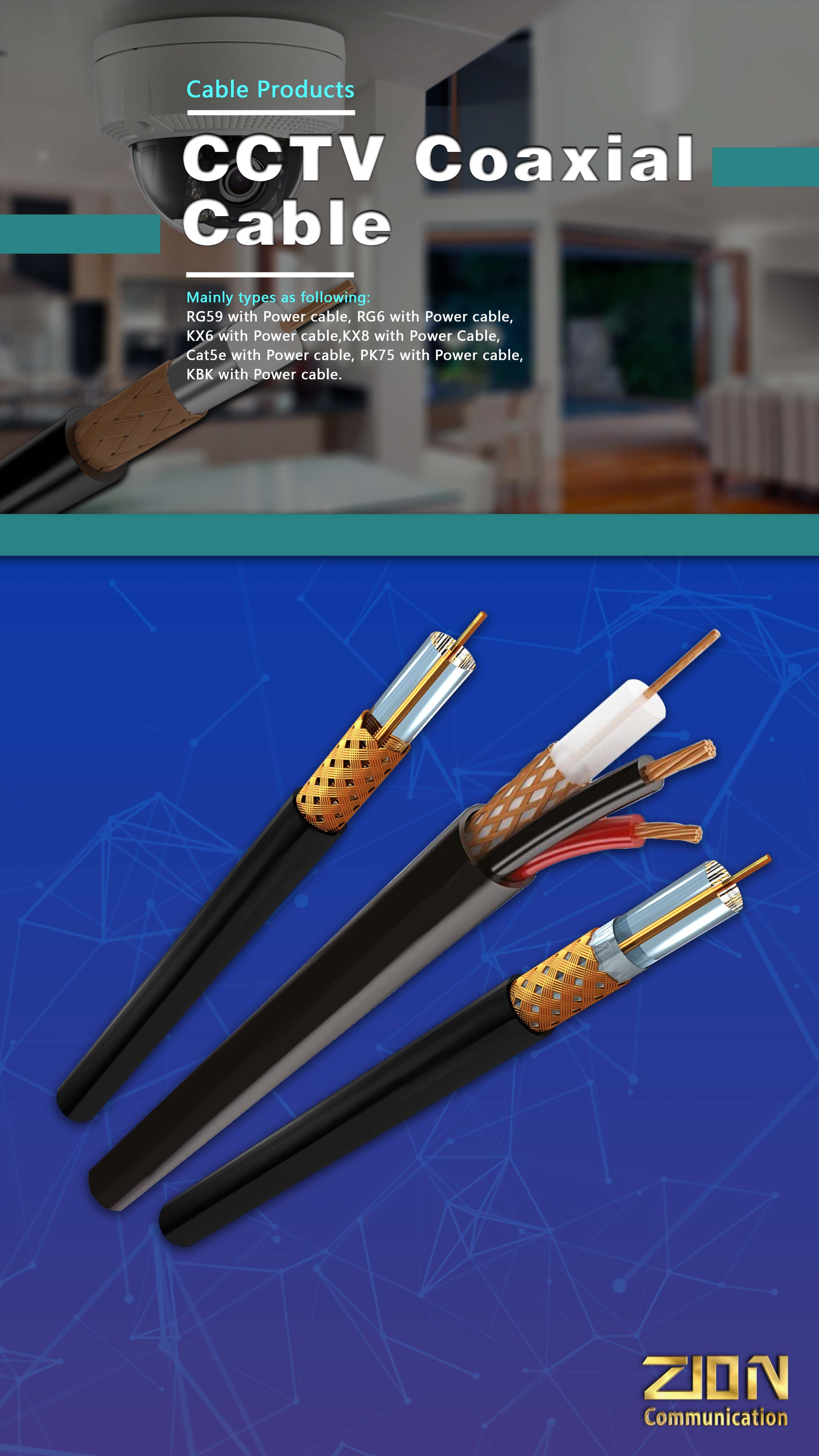 Cctv Coaxial Cable Communication Networking Cables Cable