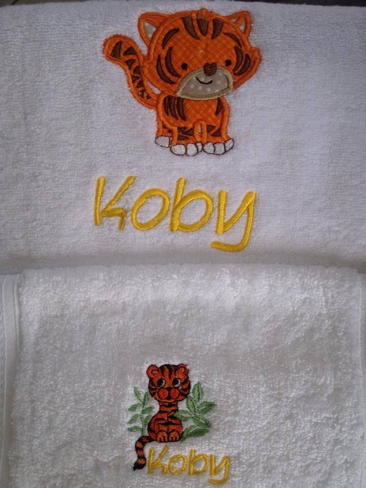 Kidsbaby gift embroidered personalized towel and face washer set kidsbaby gift embroidered personalized towel and face washer set purple cat embroidery negle Choice Image
