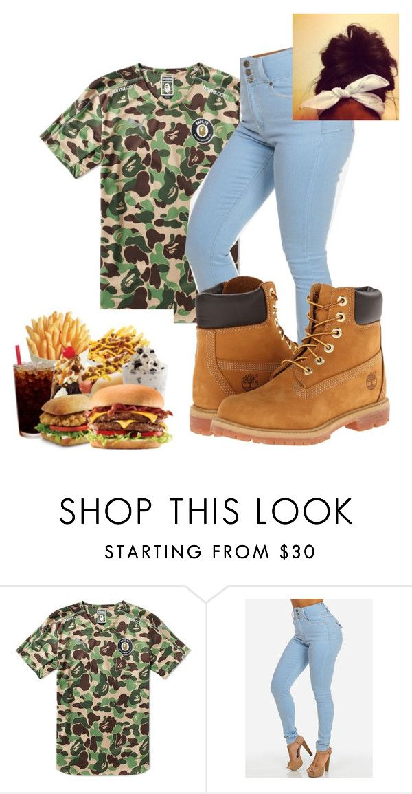 """""""finna go out w/fam~tooa"""" by candyyumyum5 ❤ liked on Polyvore featuring Timberland"""
