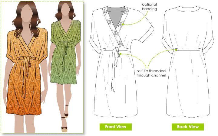 Jade Dress PDF | Schnittmuster und Kleider