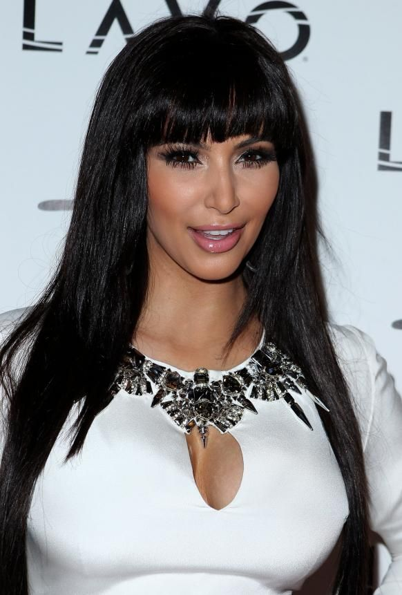 Kim Kardashian Hairstyle With Bangs I Love Fashion Pinterest